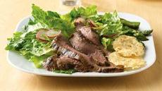Grilled Flank Steak Salad with Parmesan Crisps Recipe