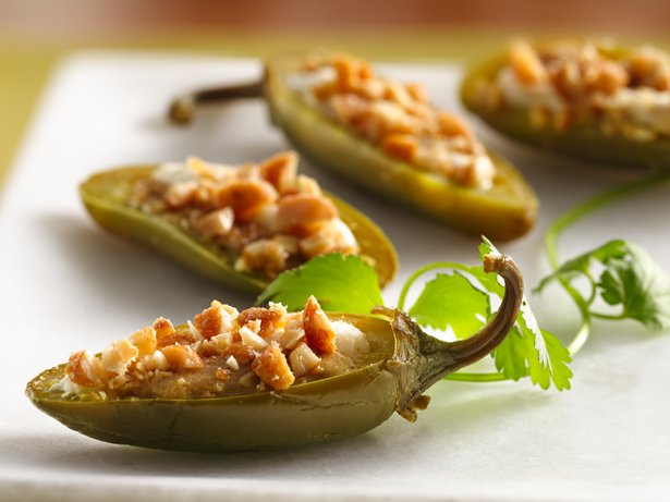 Thai Peanut Stuffed Jalapeños