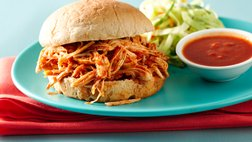 Slow-Cooker Spicy Ancho Chicken Sandwiches