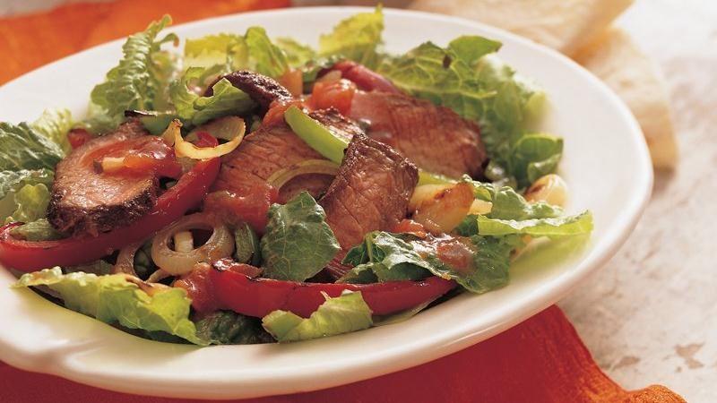 Grilled Beef Fajita Salad