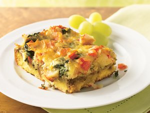 Crab&#32;and&#32;Spinach&#32;Strata