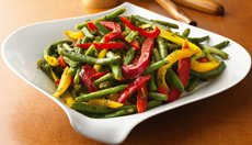 Green Beans with Colored Peppers  Recipe