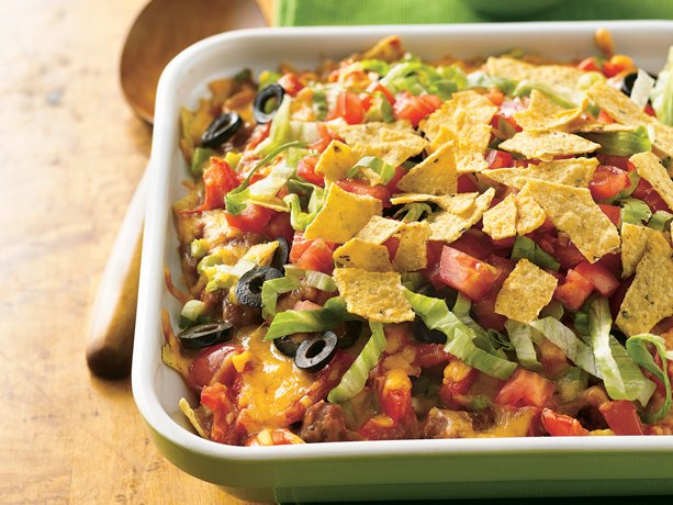 Beef and Bean Taco Casserole  Recipe from Betty Crocker