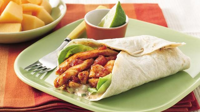 Sweet 'n Smoky Chicken Wraps