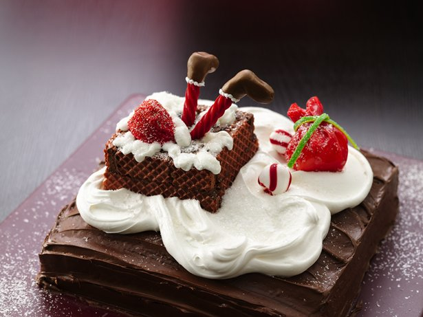 Stuck Santa Cake