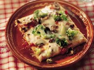 Italian Broccoli and Provolone Pizza
