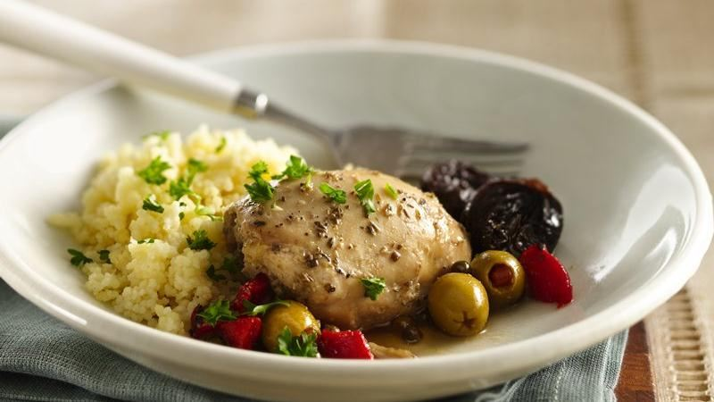 Slow-Cooker Mediterranean Chicken Marbella