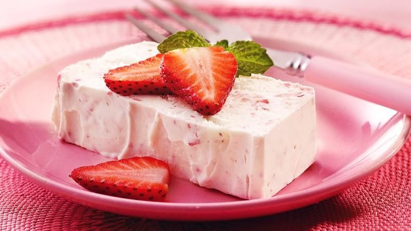 Strawberry Angel Semifreddo