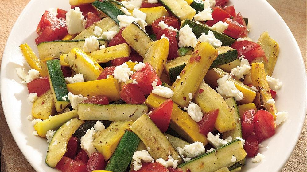 Grilled Greek Summer Squash