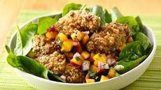 Crispy Peach Chicken Salad Recipe