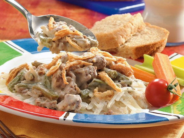 Slow Cooker Meat and Potato Casserole