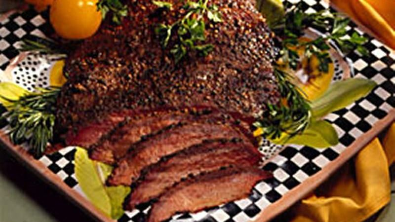 Smoked Four-Pepper Beef Brisket