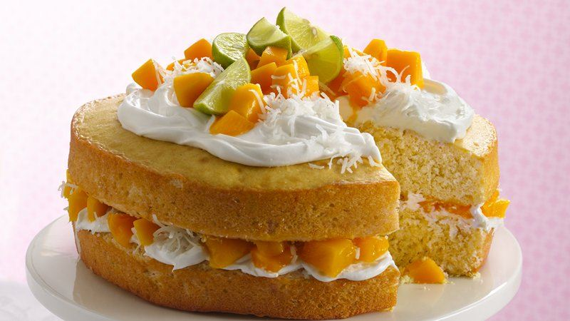 Mango Layer Cake recipe from Betty Crocker