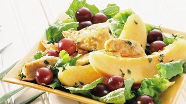 Warm Chicken Salad with Fruit