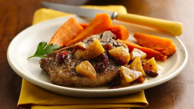 Slow Cooker Pork Chops with Apple Chutney