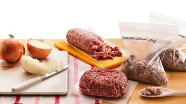 Seasoned Ground Beef and Sausage