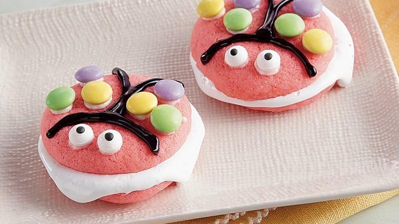 Pink Ladybug Whoopie Pies