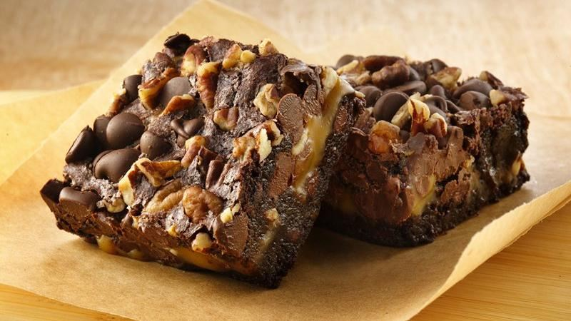 Gluten-Free Turtle Brownies recipe from Betty Crocker