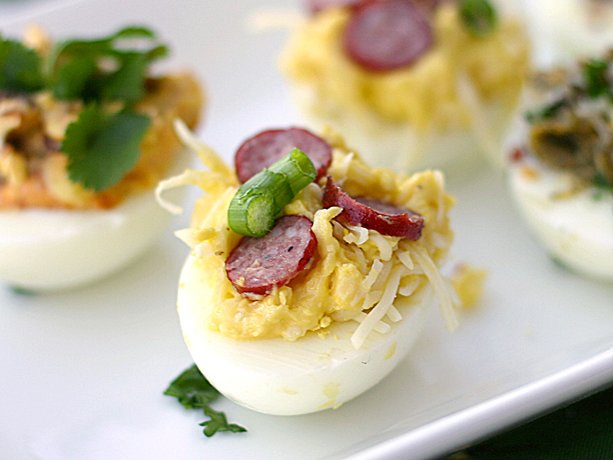 Pizza Deviled Eggs