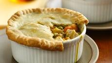 Turkey-Sweet Potato Pot Pies Recipe