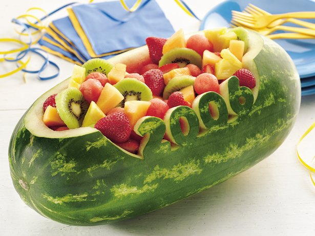 Carved watermelon bowl recipe from betty crocker
