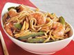 Shrimp 'n Sugar Peas Lo Mein
