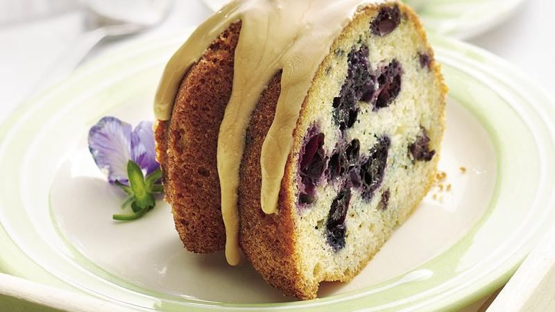 Blueberry Coffee Cake with Maple Glaze recipe from Betty Crocker