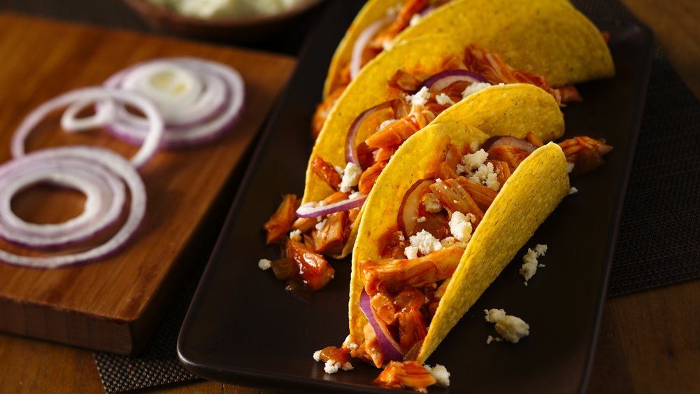 Chicken Tinga Tacos recipe from Pillsbury.com