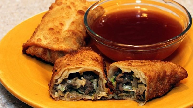 Mom's Egg Rolls with Sweet and Sour Sauce