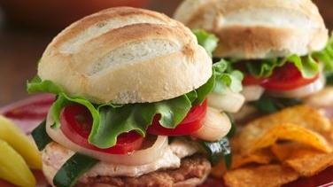 Chicken and Poblano Sandwiches