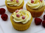 Lemon Raspberry Yogurt Cupcakes