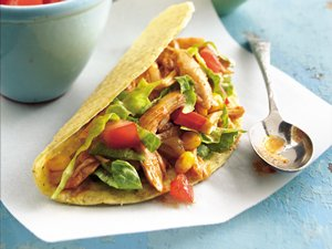 Slow Cooker Chile-Chicken Tacos