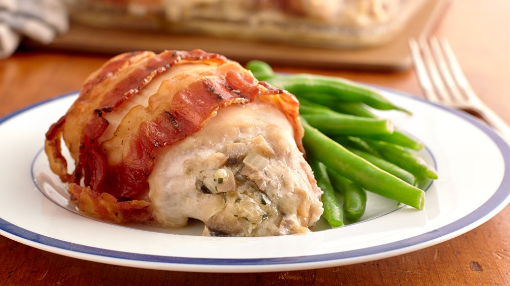 Cheese-Stuffed Bacon-Wrapped Chicken Breasts recipe from ...