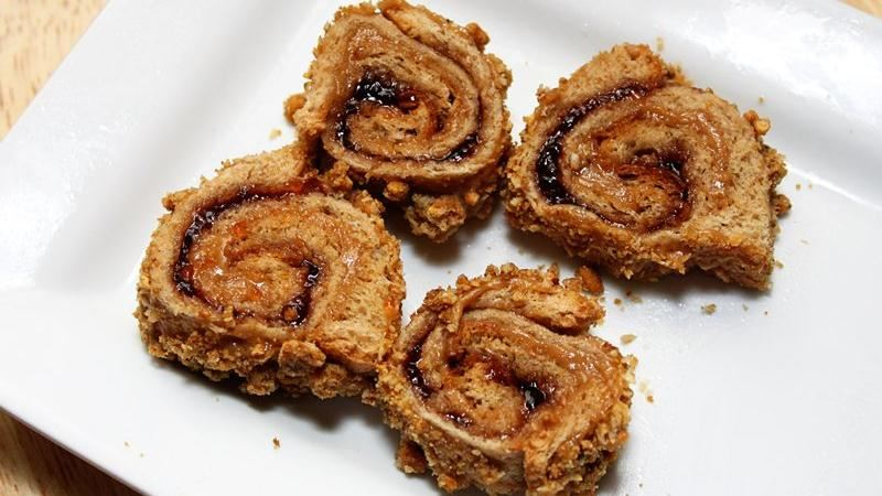 Crunchy Peanut Butter and Jelly Pinwheels