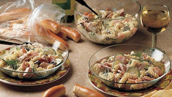 salmon salad smoked salmon and egg salad salmon macaroni salad pan ...