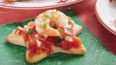 Marinara and Shrimp Canapés