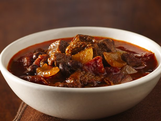 Slow Cooker Three Chile Chunky Beef Chili