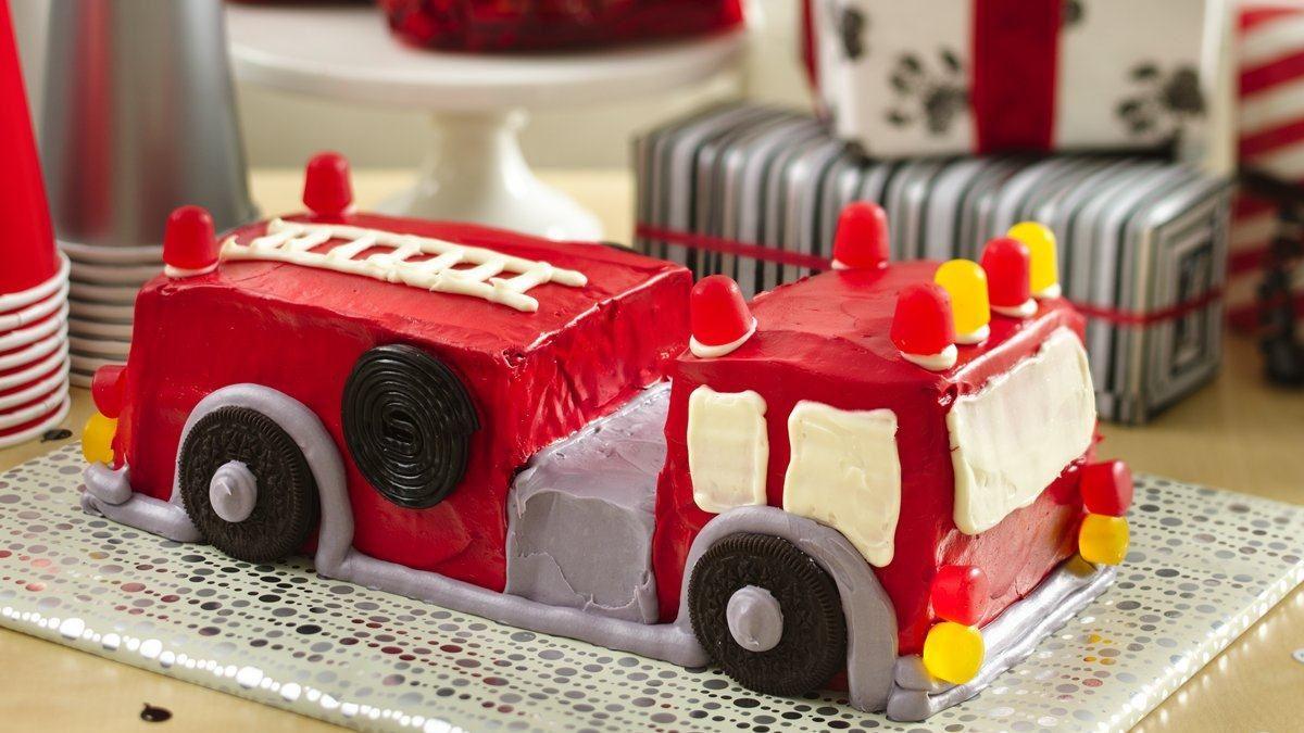 Fabuleux Gâteau camion de pompiers - Vivre délicieusement KC01