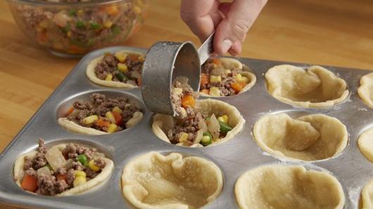 Mini Shepherd's Pot Pies recipe from Pillsbury.com