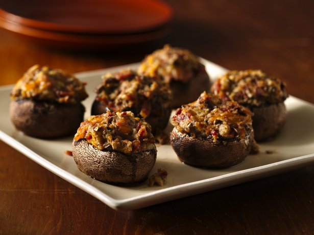 Bacon Cheese Stuffed Mushrooms