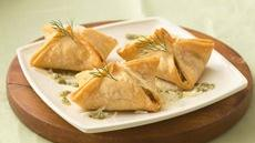 Salmon Pastries with Dill Pesto Recipe