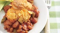 Frank &#39;n Bean Biscuit Casserole Recipe