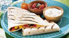Roasted Pepper Quesadillas on the Grill Recipe