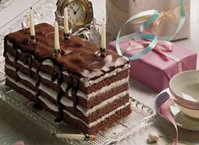 Chocolate-Marshmallow Ribbon Cake