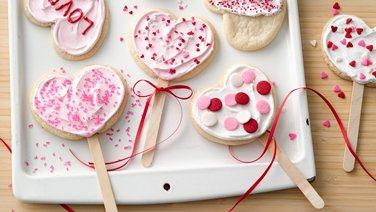 Heart-Shaped Cookie Pops