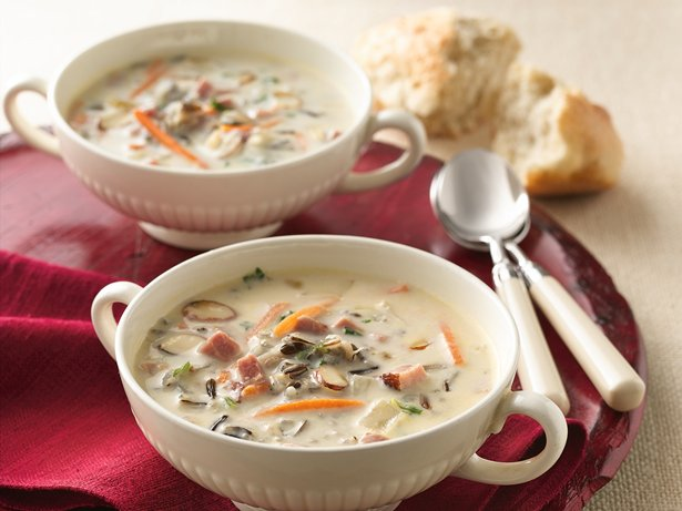 Slow Cooker Creamy Ham and Wild Rice Soup