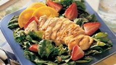 Grilled Chicken and Spinach Salad with Orange Dressing Recipe
