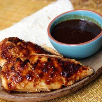Grilled Chicken with Raspberry Chipotle Glaze recipe from Betty ...