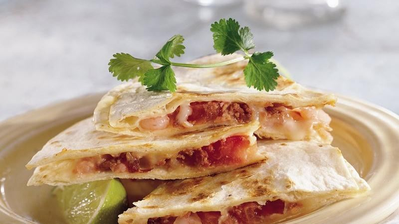 Shrimp Quesadillas recipe from Betty Crocker