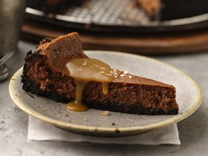 Salted Caramel Stout and Chocolate Cheesecake